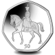 The Queens 95th Birthday: Trooping the Colour - 2021 Unc. Cupro Nickel Diamond Finish 50p Coin - BIOT