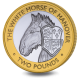 The Queen's Beasts: The White Horse of Hanover - 2021 Bi-Metal £2 Coin - BIOT