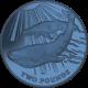 South Georgia and South Sandwich Islands 2013 - The Blue Whale - Blue Titanium Coin