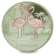 Flamingo - 2021 Pink and Light Green Bi-Colour Titanium Coin - BVI