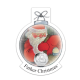 BIOT Father Christmas 50p - 2020 Uncoloured Cupro Nickel Diamond Finish 50p Coin in a Decoration