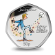 The World of David Walliams: The Boy in the Dress - 2021 Unc. Cupro Nickel Diamond Finish Coloured 50p Coin - GIB