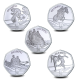 Summer Olympic Games 5 Coin Set - 2021 Proof Sterling Silver 50p Coin - GIB