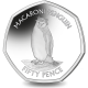 South Georgia and South Sandwich Islands: Macaroni Penguin - 2020 Proof Sterling Silver 50p