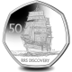 RRS Discovery - 2021 Unc. Cupro Nickel Diamond Finish 50p Coin - SGA