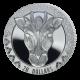 The Wild 5: Giraffe - 2022 Proof Fine Silver 2oz High Relief $20 Coin - SLE