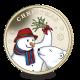 The Snowman and The Polar Bear - 2019 Christmas Virenium Medal in Presentation Pouch