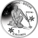 Isle of Man 2014 - Winter Olympic Series: Curling - Uncirculated Cupro Nickel Coin