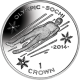 Isle of Man 2014 - Winter Olympic Series: The Luge - Proof Sterling Silver Coin