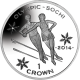 Isle of Man 2014 - Winter Olympic Series: Figure Skating - Uncirculated Cupro Nickel Coin