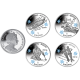 Isle of Man 2014 - Winter Olympic Series - Coloured Cupro Nickel 4 Coin Set