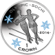 Isle of Man 2014 - Winter Olympic Series: Figure Skating - Coloured Uncirculated Cupro Nickel Coin