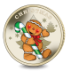 The Gingerbread Man 2020 Christmas Virenium Medal housed in Red Pouch