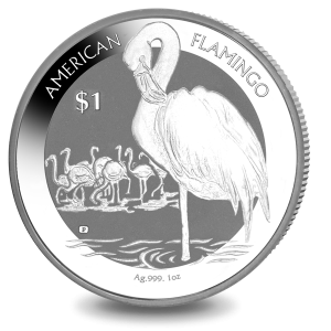 Flamingo - 2021 Reverse Frosted Silver Bullion Coin - BVI