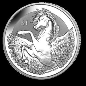 Pegasus - 2018 Reverse Frosted Silver Bullion
