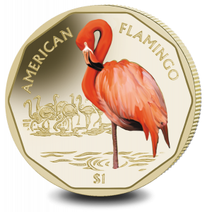 Flamingos Series: American Flamingo - 2019 Coloured Virenium Coin