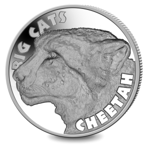 Big Cats: Cheetah - 2020 Proof Fine Silver 2oz High Relief Coin