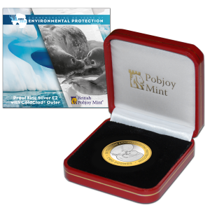 30th Anniversary of Environmental Protocol: Ross Seals - 2021 Proof Fine Silver with Goldclad® £2 Coin - BAT