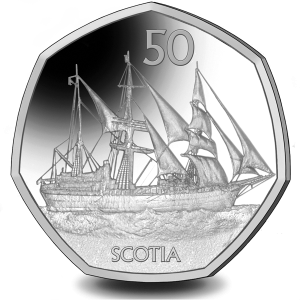 Scotia - 2021 Proof Sterling Silver 50p Coin - BAT
