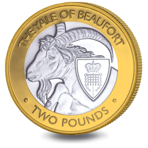 The Queen's Beasts: The Yale of Beaufort - 2021 Bi-Metal £2 Coin - BIOT