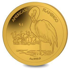 Flamingo - 2021 Proof Fine 999. Half Gram Gold Coin - BVI