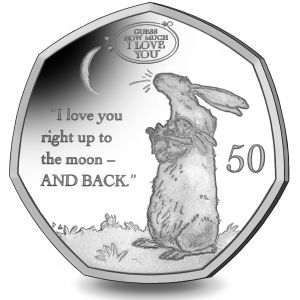 Guess How Much I Love You - 2021 Uncoloured Cupro Nickel Diamond Finish 50p Coin in Pack
