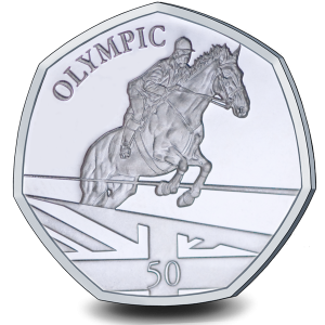 Summer Olympic Games: Olympic Equestrian - 2021 Proof Sterling Silver 50p Coin - GIB