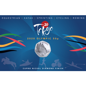 Summer Olympic Games: Olympic Kayak - 2021 Unc. Cupro Nickel Diamond Finish 50p Coin - GIB