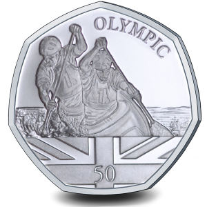 Summer Olympic Games: Olympic Kayak - 2021 Proof Sterling Silver 50p Coin - GIB