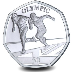 Summer Olympic Games: Olympic Sprinting - 2021 Proof Sterling Silver 50p Coin - GIB