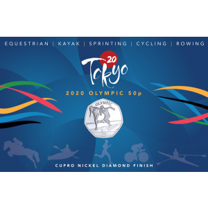 Summer Olympic Games: Olympic Sprinting - 2021 Unc. Cupro Nickel Diamond Finish 50p Coin - GIB