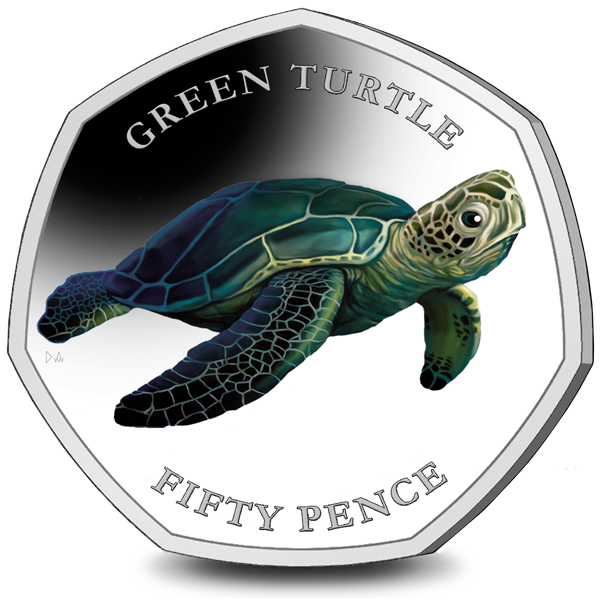 Introducing a BRAND NEW 50p Series, featuring the Turtles of The British Indian Ocean Territory