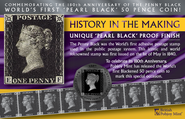 The World's First Pearl Black 50 Pence Coin